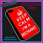 FITS IPHONE 4 / 4S PHONE KEEP CALM IM A MECHANIC  PLASTIC COVER COOL GIFT RED